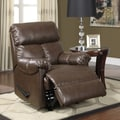 Dorel Faux Leather Padded Recliner; Brown