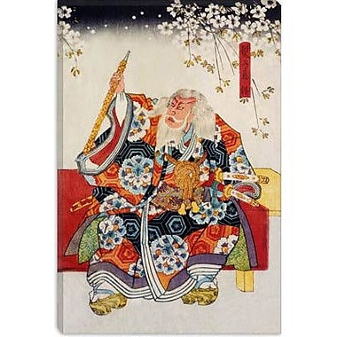 iCanvas 'Old Samurai Japanese Woodblock' Painting Print on Canvas; 40'' H x 26'' W x 1.5'' D