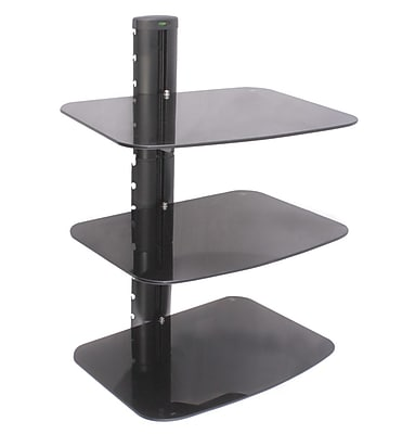 Man Cave America Three Shelf AV Component Wall Mount in Black