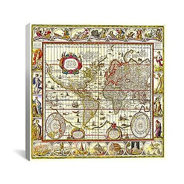 iCanvas Maps and Charts of the World Graphic Art on Canvas; 37'' H x 37'' W x 1.5'' D