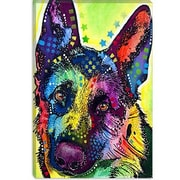 iCanvas 'German Shepherd' by Dean Russo Graphic Art on Canvas; 18'' H x 12'' W x 1.5'' D