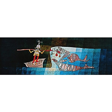 iCanvas 'Sinbad the Sailor' by Paul Klee Painting Print on Canvas; 16'' H x 48'' W x 0.75'' D