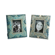 IMAX 2 Piece Haani Hand Painted Picture Frames Set