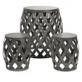IMAX 3 Piece Kenwood Braided Table and Stools Set
