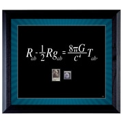 American Coin Treasure Theory Wall Framed Textual Art with Stamps in Black