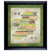 American Coin Treasure Luck Of The Irish Wall Framed Textual Art with Coins in Black