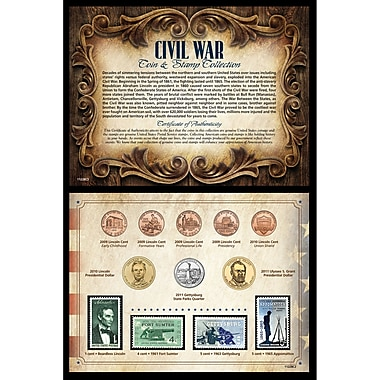 American Coin Treasure Civil War Coin and Stamp Memorabilia