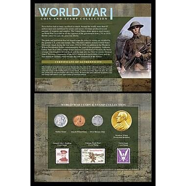 American Coin Treasure World War I Coin and Stamp Framed Memorabilia
