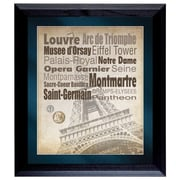 American Coin Treasure Paris The City of Lights Wall Framed Textual Art with Coins in Black