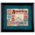 American Coin Treasure America Takes Flight Stamp Collection Wall Framed Memorabilia in Black