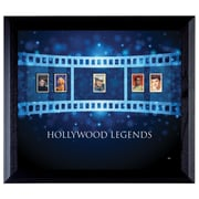 American Coin Treasure Hollywood Legends Wall Framed Vintage Advertisement with Stamps in Black