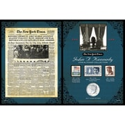 American Coin Treasure The New York Times JFK Coin and Stamp Collection Wall Framed Memorabilia