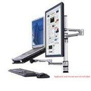 Health Postures TaskMate Laptop Holder with Single Screen Monitor Mount