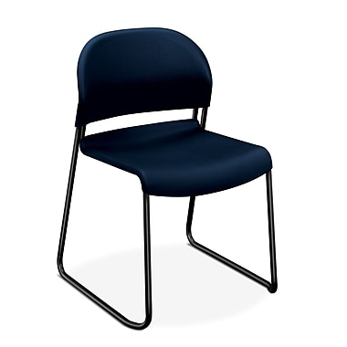 HON® GuestStacker Polymer Stacking Chair, Regatta/Black