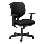 HON® Volt® 5700 Series 40H Fabric Mid Back Task Chair With Centre Tilt, Black