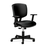 HON® Volt® 5700 Series 40in.H SofThread Leather Mid Back Task Chair With Synchro Tilt, Black