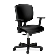 HON® Volt® 5700 Series 40H SofThread Leather Mid Back Task Chair With Synchro Tilt, Black