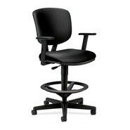 HON® Volt® 5700 Series 49.88in.H SofThread Leather Mid Back Task Stool, Black