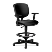HON® Volt® 5700 Series 49.88H SofThread Leather Mid Back Task Stool, Black