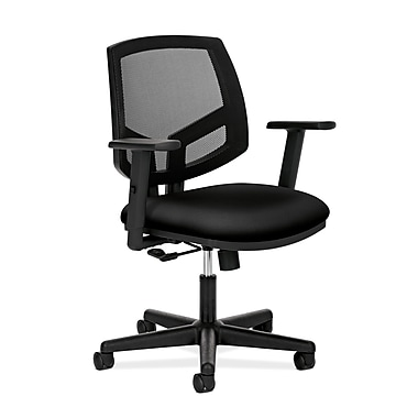 HON® HON5711AGA10 Volt® Fabric Mesh Back Office Chair with Adjustable Arms, Black