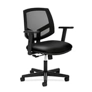 HON® Volt® 5700 Series 40in.H SofThread Leather Mesh Mid Back Task Chair With Centre Tilt, Black