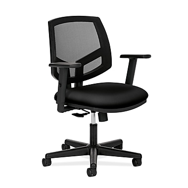 HON® Volt® 5700 Series 34.37in. - 38.5in.H Fabric Mesh Mid Back Task Chair With Synchro Tilt, Black