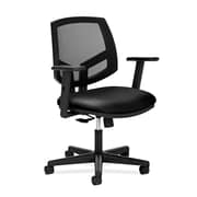 HON® Volt® 5700 34.37 - 38.5H SofThread Leather Mesh Mid Back Task Chair With Synchro Tilt, Black