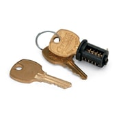 HON Removable Lock Core Kit For Metal Casegoods, Black