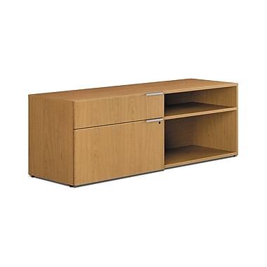 HON® Voi® Laminate 1 File/1 Box Drawer Left Handed Low Credenza, Harvest