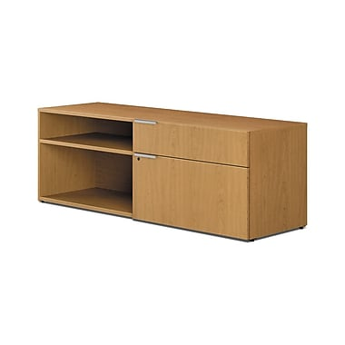 HON® Voi® Laminate 1 File/1 Box Drawer Right Handed Low Credenza, Harvest