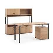 basyx by HON® Manage® Executive Desk & Credenza Workstation, Wheat