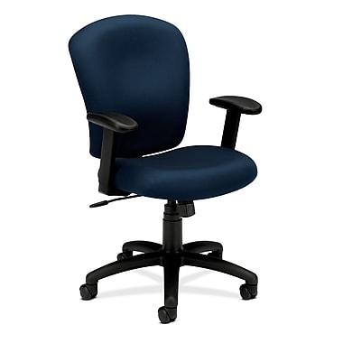 HON® basyx® basyx® HVL200 Series 38 1/4in.H Mid Back Task Chair, Navy