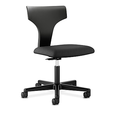HON® basyx® VL251 Series 36in.H Fabric T-Shaped Back Task Chair, Black