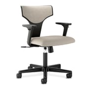 HON® basyx® VL258 Series 36 1/4in.H Fabric T-Shaped Back Task Chair With Synchro Tilt, Ash