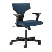 HON® basyx® VL258 Series 36 1/4H Fabric T-Shaped Back Task Chair With Synchro Tilt, Navy
