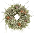 The Christmas Tree Company Seashell and Dried Floral Wreath 18in.
