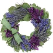 The Christmas Tree Company Lavender and Larkspur Dried Floral Wreath 16in.