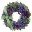 The Christmas Tree Company Lavender and Larkspur Dried Floral Wreath 18in.