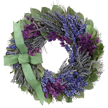 The Christmas Tree Company Lavender and Larkspur Dried Floral Wreath 18