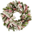 The Christmas Tree Company Blush and Blossoms Dried Floral Wreath 16in.