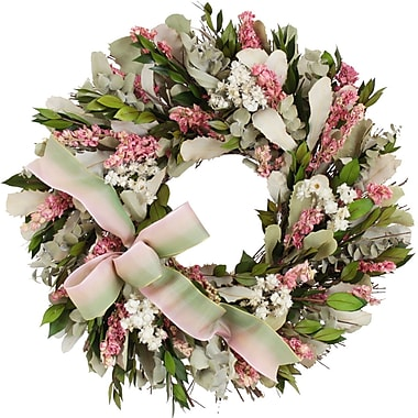 The Christmas Tree Company Blush and Blossoms Dried Floral Wreath 16