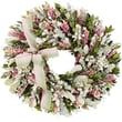 The Christmas Tree Company Blush and Blossoms Dried Floral Wreath 18in.