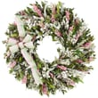 The Christmas Tree Company Blush and Blossoms Dried Floral Wreath 22in.