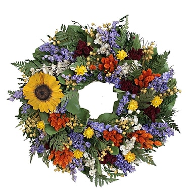 The Christmas Tree Company Swanky Sunflower Dried Floral Wreath 16