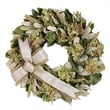 The Christmas Tree Company Hydrangea and Burlap Dried Floral Wreath 16in.