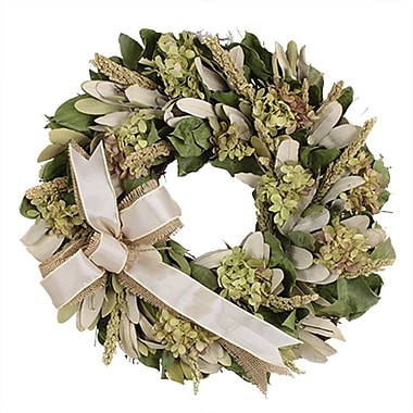 The Christmas Tree Company Hydrangea and Burlap Dried Floral Wreath 16