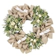 The Christmas Tree Company Roses and Burlap Dried Floral Wreath 30in.