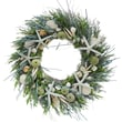 The Christmas Tree Company Ocean Tide Seashell and Dried Floral Wreath 22in.