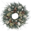The Christmas Tree Company Waves and Water Seashell and Dried Floral Wreath 18in.