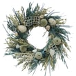 The Christmas Tree Company Crystal Tides Seashell and Dried Floral Wreath 18in.